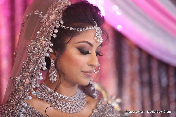 Indian Bride wearing Diamond Wedding Jwelery