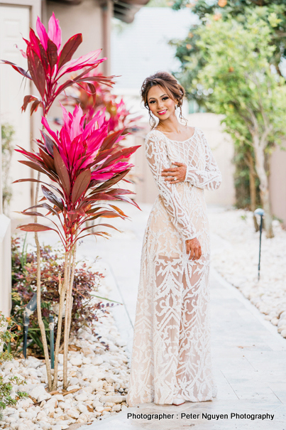 Indian Bride Possing for outdoor photoshoot