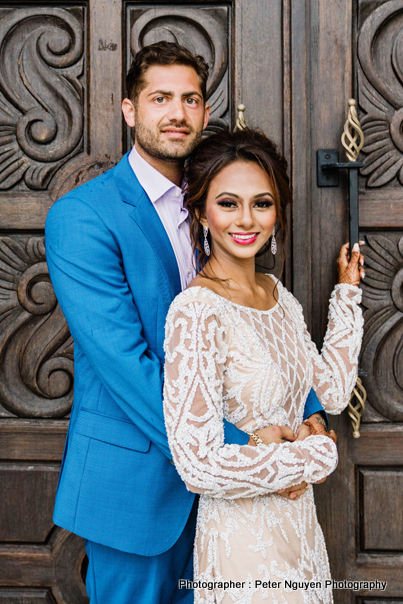 Indian Bride and Groom Looking Happy