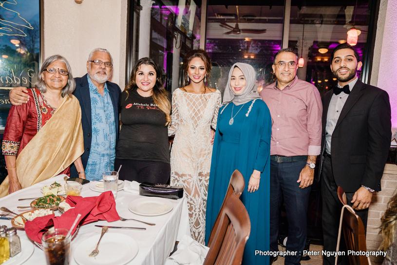 Indian Bride Rosanna with Raj and Aruna Shah, Michele Rene and DJ Krish