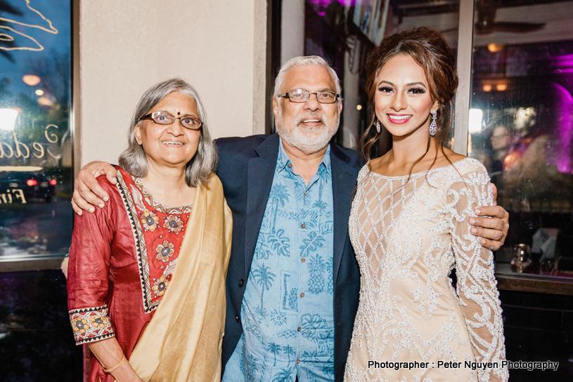 Rosanna Barsati with Raj Shah and Aruna Shah, Desh Videsh Media Group