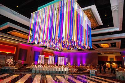 Excellent Decoration of Flower for Sangeet and Dandia Ceremony at Hilton Orlando