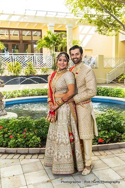 Indian Couple with gorgeous background