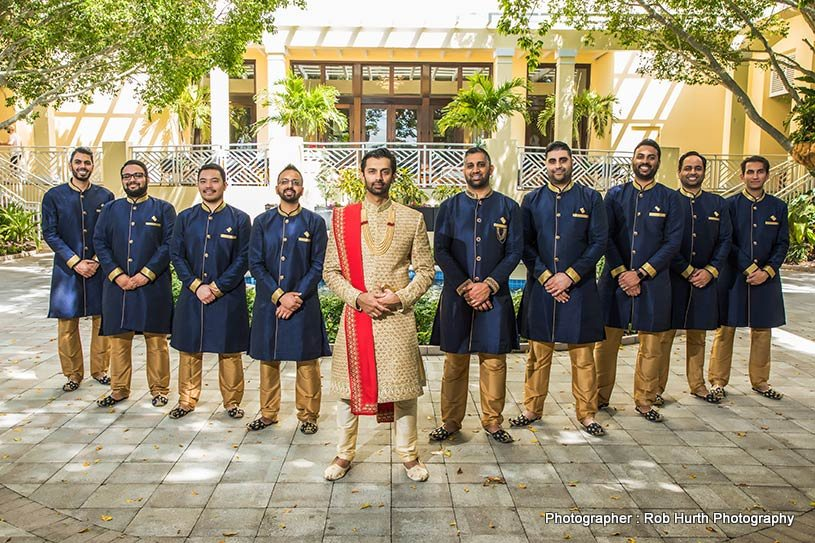 Groom With Friends and Family