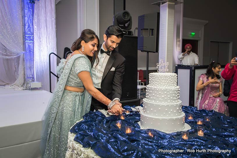 Indian Couple Cake cutting ceremony