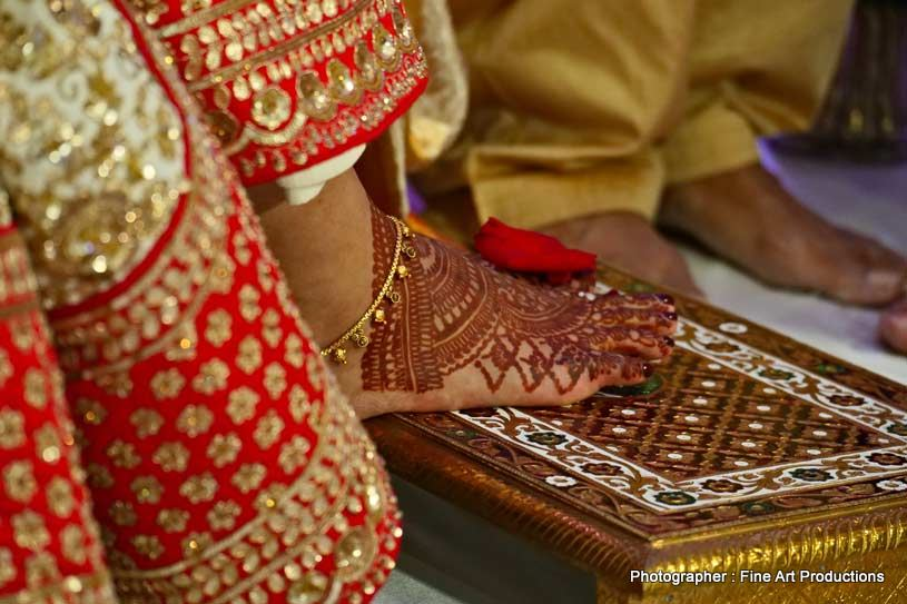 Bride entering the wedding hall