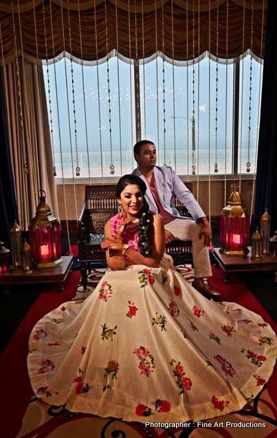 Indian Couple wedding attire