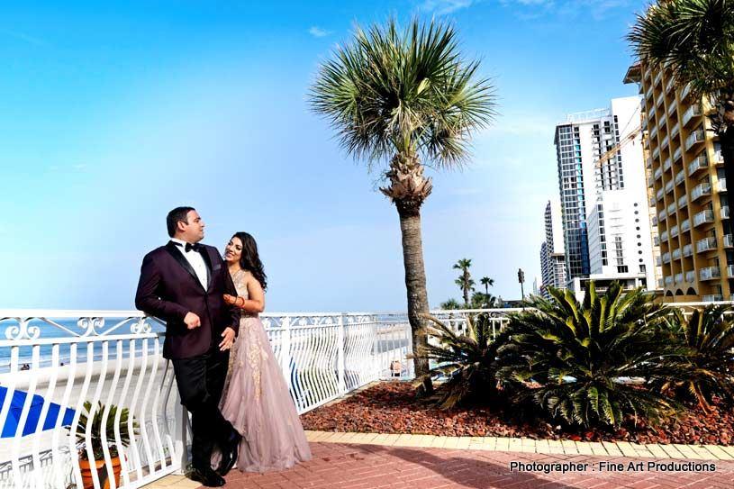 Astonishing outdoor photoshoot of indian Couple