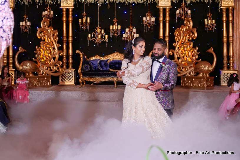 Indian Couple Dancing on the floor