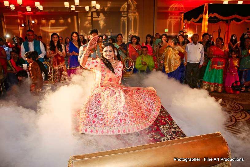 Bride Dancing at wedding Sangeet