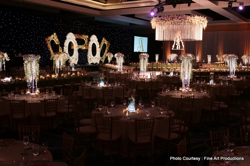 Over the top Reception night decor