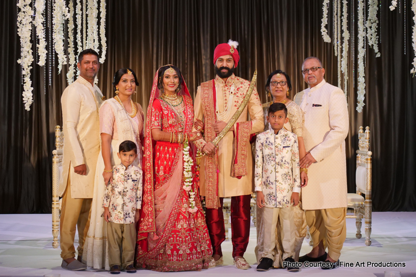 Indian Couple posing with Family Member