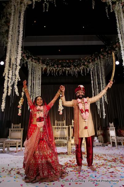 Astonishing indian couple's wedding photography