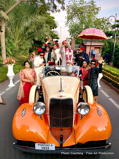 Indian Groom Arriving at the ceremony in baraat