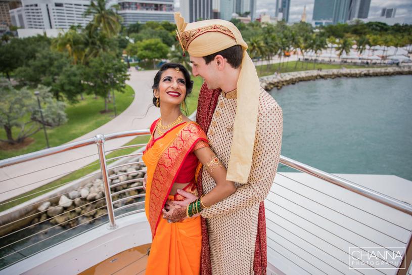 Karishma & Preston Fusion Wedding at Intercontinental miami Photographed by Channa photography