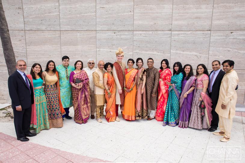 All Family Members enjoying Fusion wedding