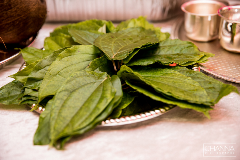 Betel leaves, along with the areca nuts, symbolise love in weddings
