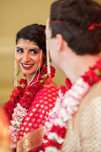 Wedding Couple Wear Floral Garland