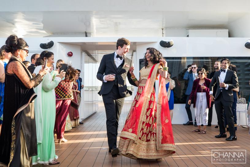 Dance performance of wedding couple