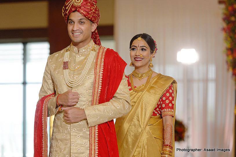Wedding Attire of indian Couple