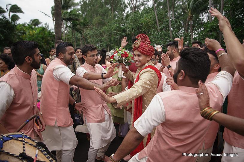 Friends Dancing at the baraat