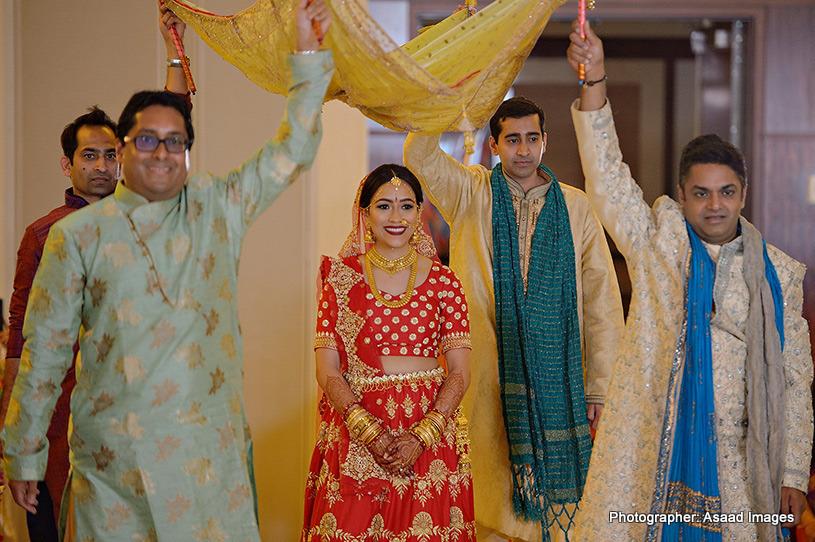 Indian Bride Entering Wedding ceremony