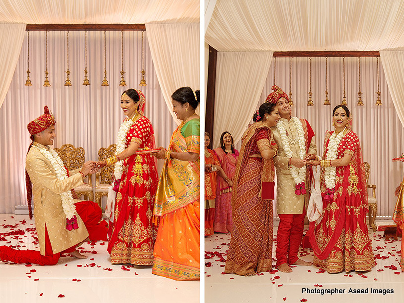 Ring Exchanging ceremony of Indian Couple