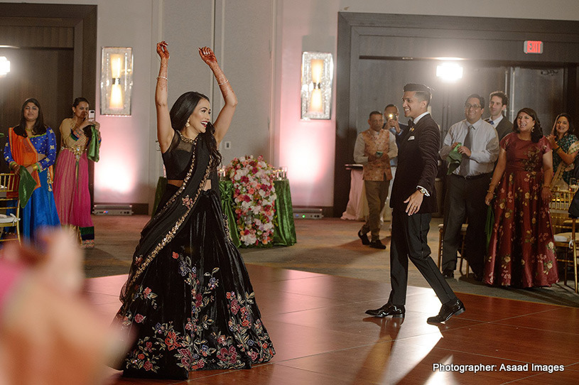 Indian Bride dancing her heart out