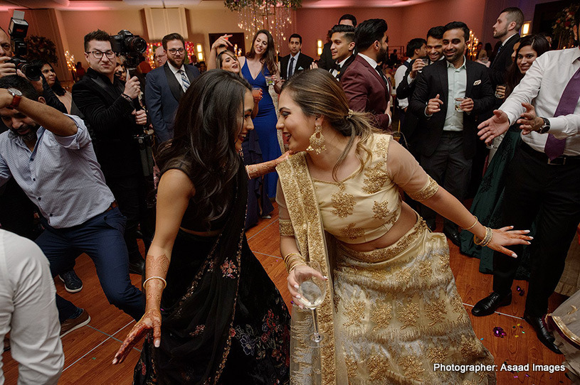 Indian Bride dancing with her friend
