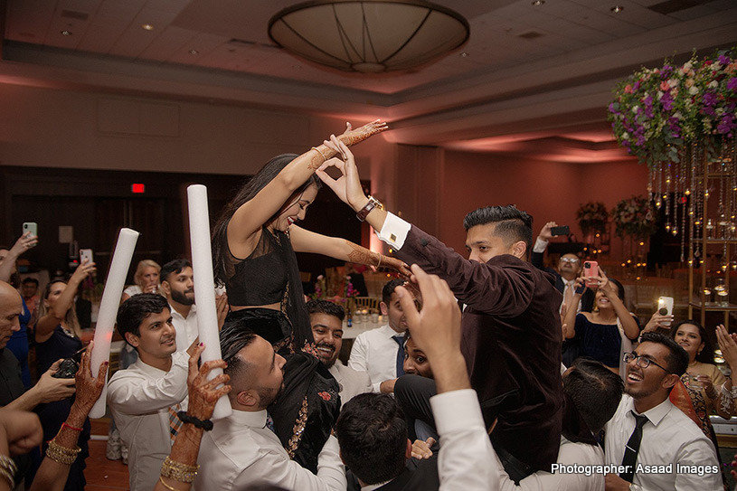 Indian Couple dancing at the reception