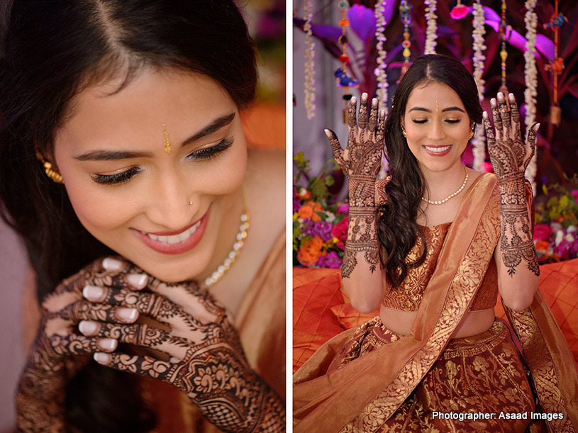 Gorgeous mehndi of Indian Bride