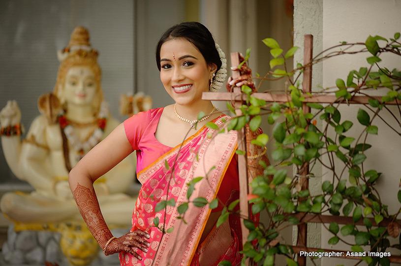 Haldi look of Indian bride