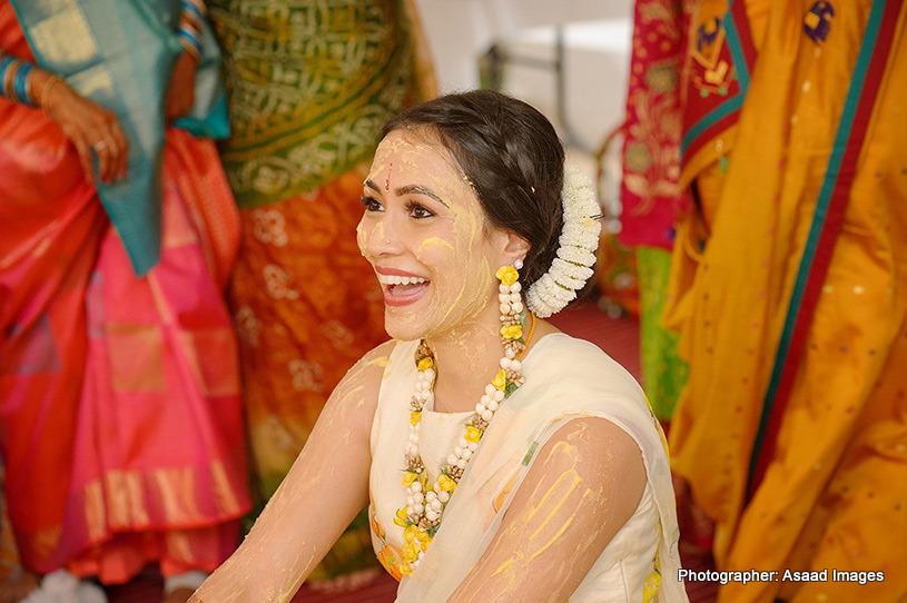 Indian Bride applied With Haldi