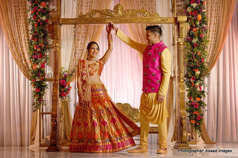 Gorgeous Indian Sangeet attire
