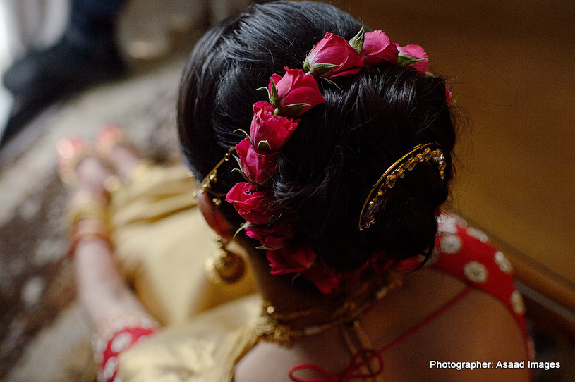 Lovely hair of indian Bride