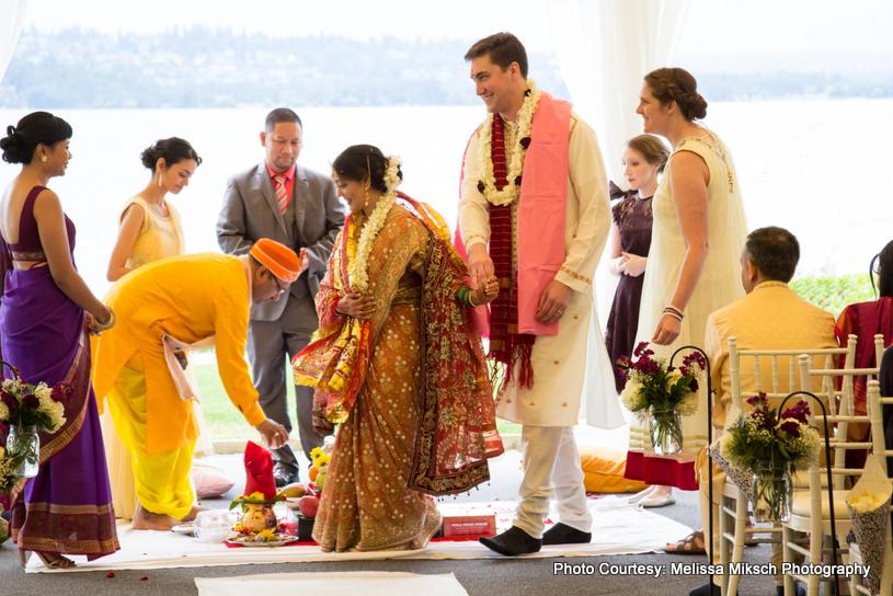 Saptapadi - Indian wedding Ritual