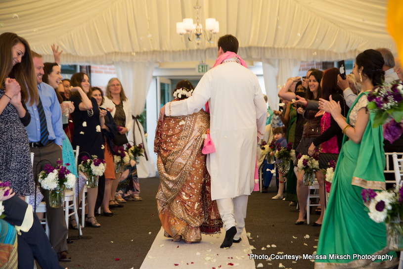 End of the wedding Ceremony