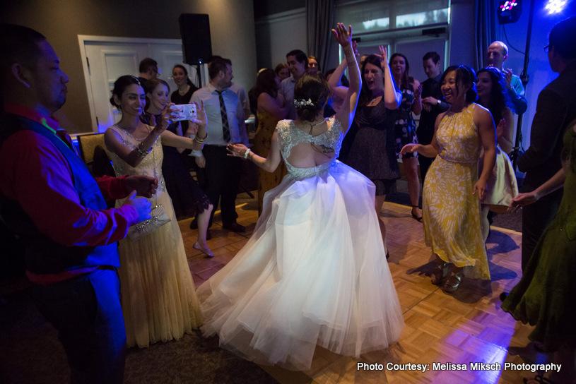 Indian bride looking dancing dall