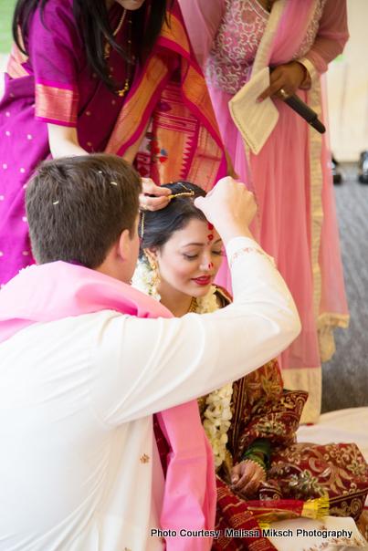 Sindoor - Symbolise that Bride is now married