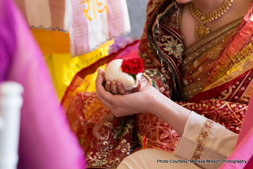 Hasta melap Indian wedding ritual