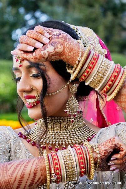 Detailed Indian Wedding Jewelry Look of Bride