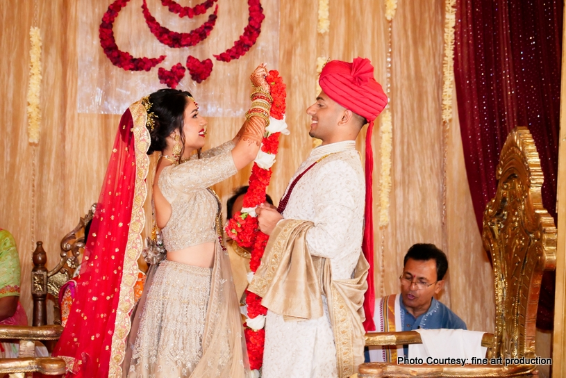 Garland Exchange Ceremony at wedding