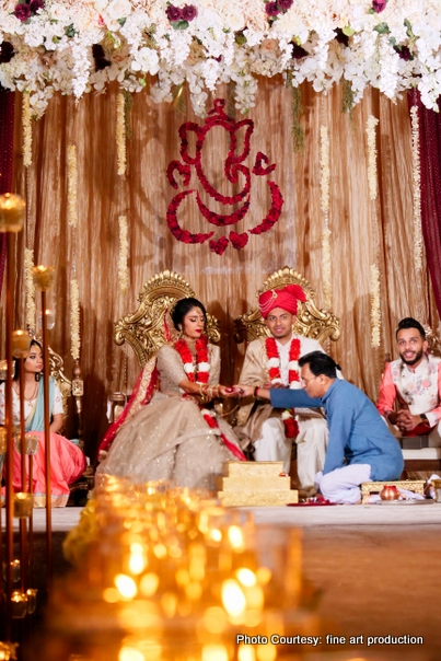 Portrait click of Indian wedding