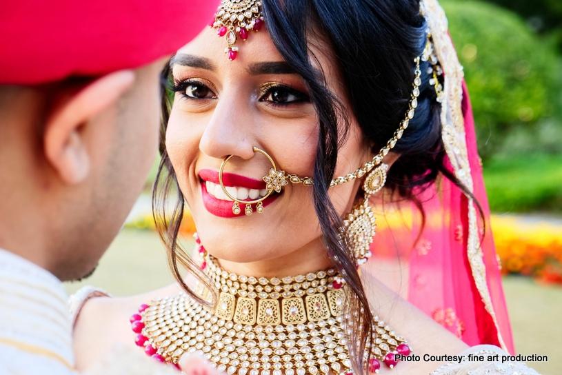 Indian Bride Looking In the eyes of Groom