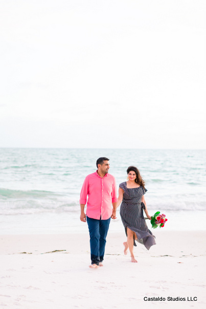 Indian Couple Posing on the Beach