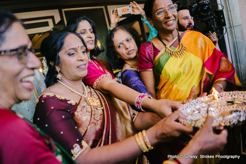 Wedding Rituals before Groom Enters the Banquet Hall