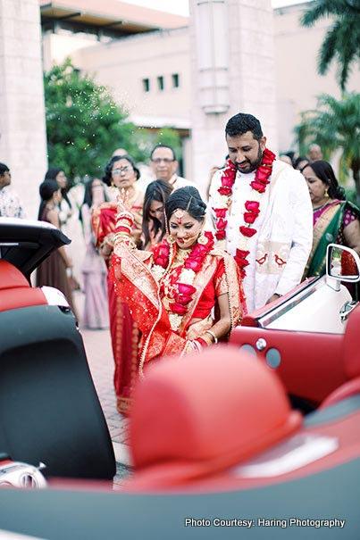 Indian Wedding ritual of Vidaai