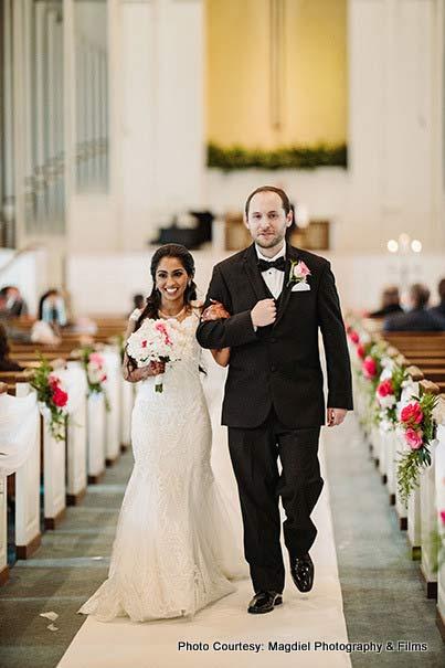 Couple entering the wedding Venue