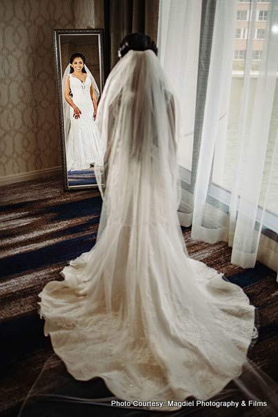 Indian bride wedding gown