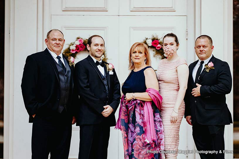 Groom Posing with his family